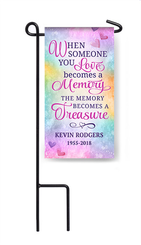 Personalized Someone You Love Mini Memorial Flag With Stand