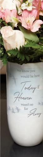 memorial vase with memorial quote