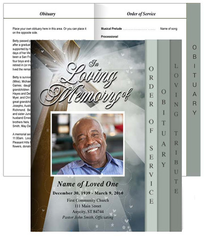Eternal Tabloid 8-Sided Graduated Program Template front view