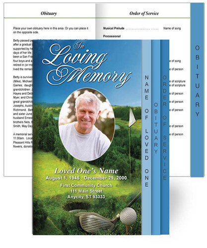 Golf Tabloid 8-Sided Graduated Program Template