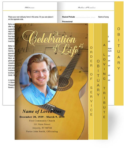 Guitar Tabloid 8-Sided Graduated Program Template