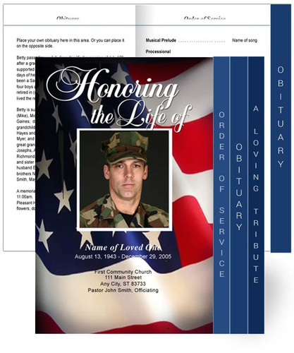 U.S. Flag Tabloid 8-Sided Graduated Program Template