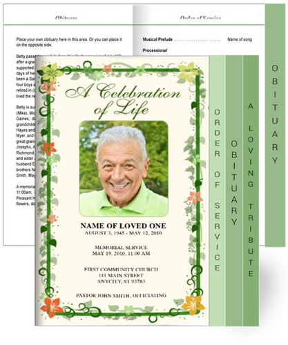 Vines Tabloid 8-Sided Graduated Program Template