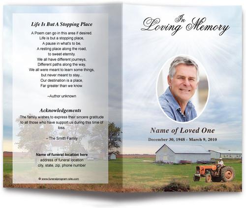 Farm Funeral Program Template