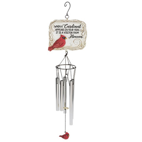 When A Cardinal Appears Garden Memorial Wind Chime