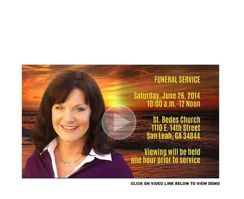 Sunset Funeral Announcement For Social Media