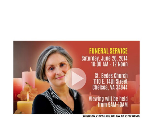 Candle Social Media Funeral Service Announcement Video