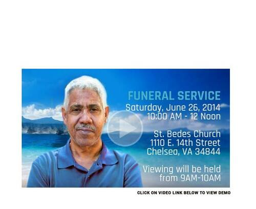 Beach Social Media Funeral Service Announcement Video