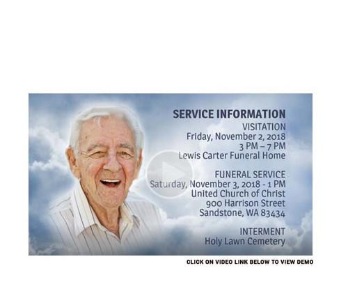 Skies Social Media Funeral Service Announcement
