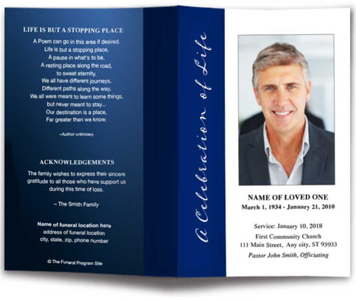 Vertical Funeral Program Template
