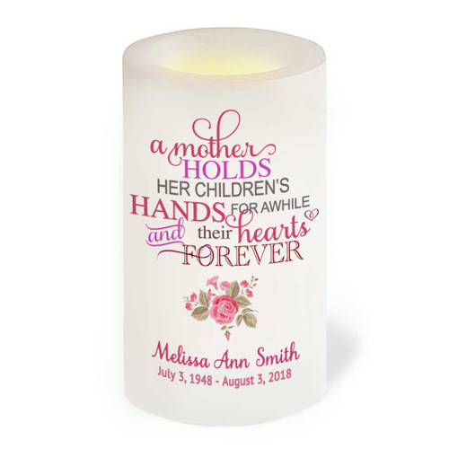 Mothers Flameless LED Memorial Candle front view
