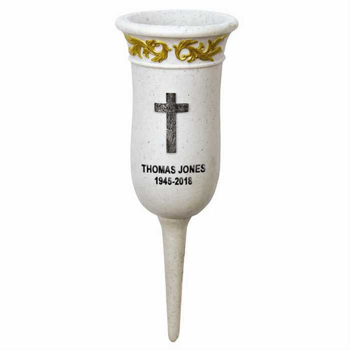 Cemetery Flower Holder Personalized