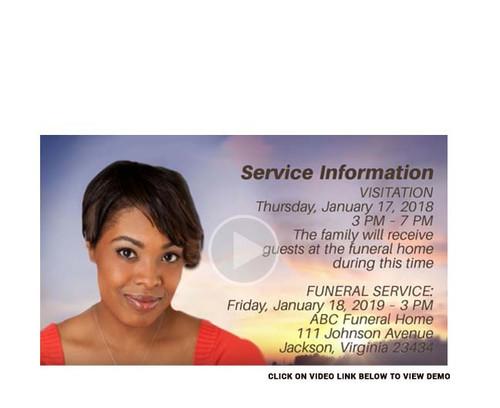 Faith Social Media Funeral Service Announcement