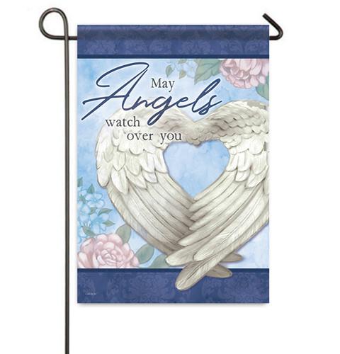 Angels Watch Over You Memorial Garden Flag front