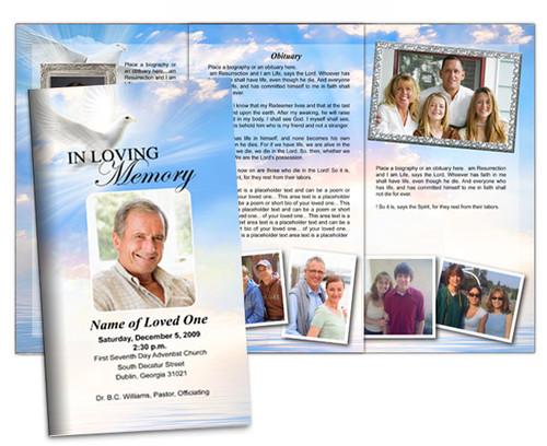 Peace Large Trifold Brochure Template