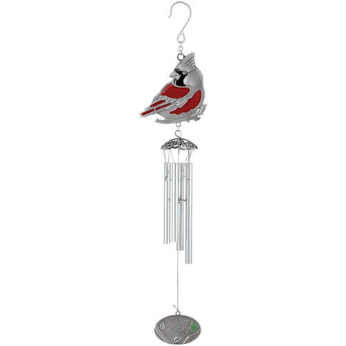 Memorial Wind Chime Pewter Cardinal