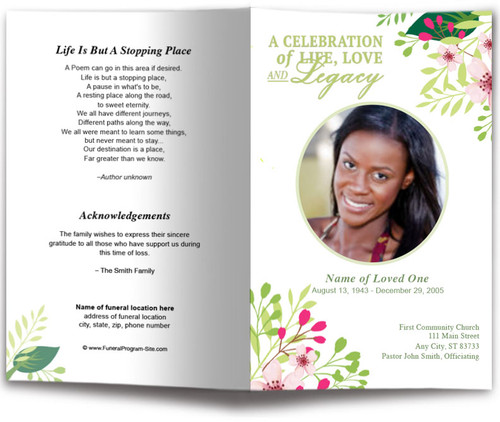 Samantha Funeral Program Template