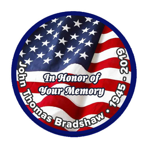 U.S. Flag Patriotic In Loving Memory Of Patch