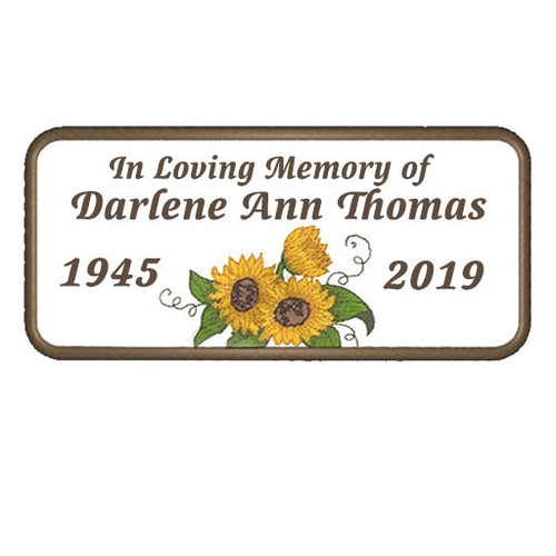 Personalized Embroidery Sunflower In Loving Memory Patch
