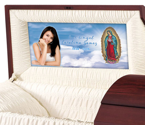 Lady of Guadalupe Casket Head Panel Insert