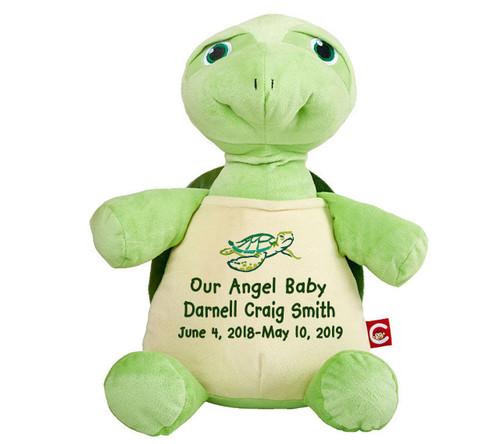 Tommy Turtle Memorial Stuffed Animal Urn