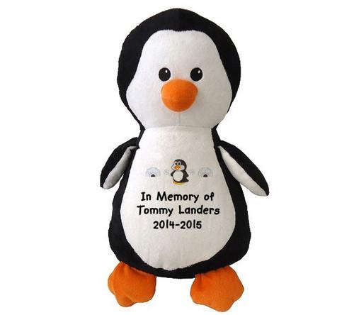 Penny Penguin Memorial Stuffed Animal Urn