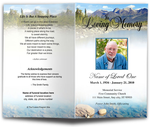 Sierra Funeral Program Template