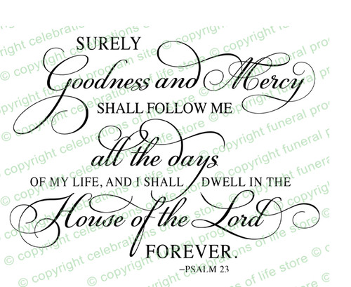 Psalm 23 Bible Verse Word Art