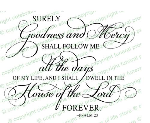 Psalm 23 Bible Verse Word Art