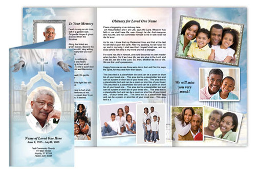 Open Arms Tri Fold Brochure Template (Legal Size)
