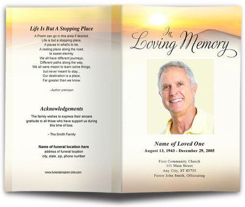Summit Funeral Program Template
