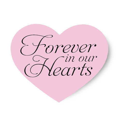 Forever In Our Hearts Share A Memory Remembrance Card