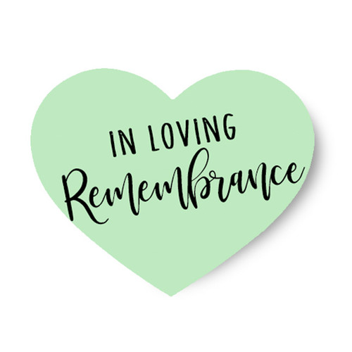 In Loving Remembrance Share A Memory Remembrance Card