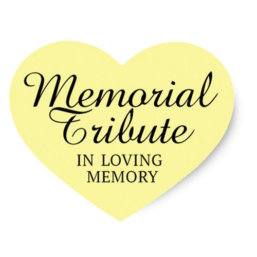 Memorial Tribute Share A Memory Remembrance Card (Pack of 25)