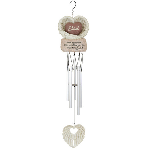 Memorial Wind Chime Dad Heart Guardian Angel