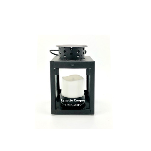 Personalized Miniature Lantern With LED Votive Candle