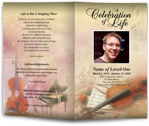 Harmony Funeral Program Template