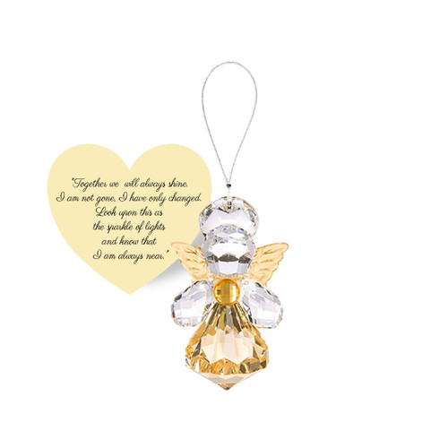 Guardian Angel of Remembrance Sparkling Acrylic Ornament with tag