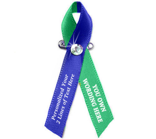 Customize Your Own 2 Color Awareness Ribbon - Pack of 10