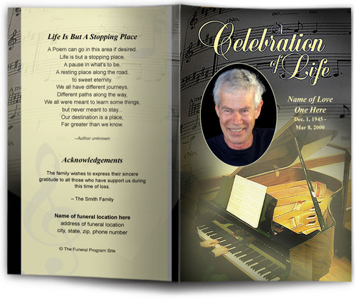 Melody Funeral Program Template