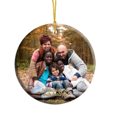 Round Ceramic In Loving Memory Christmas Ornament
