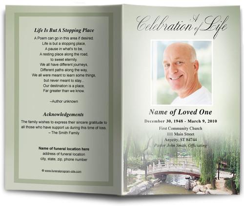 Bridge Funeral Program Template