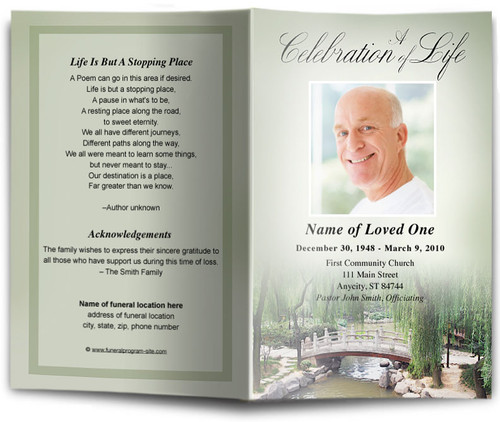 Bridge Funeral Program Template