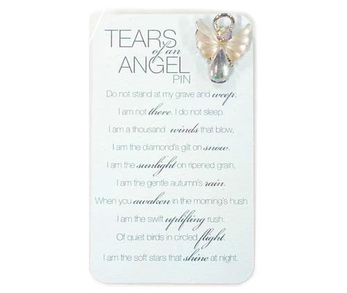 Tears of an Angel In Loving Memory Lapel Pin
