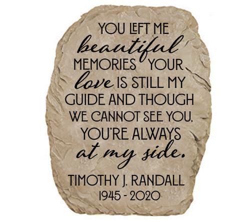 Personalized Beautiful Memories Memorial Garden Stone