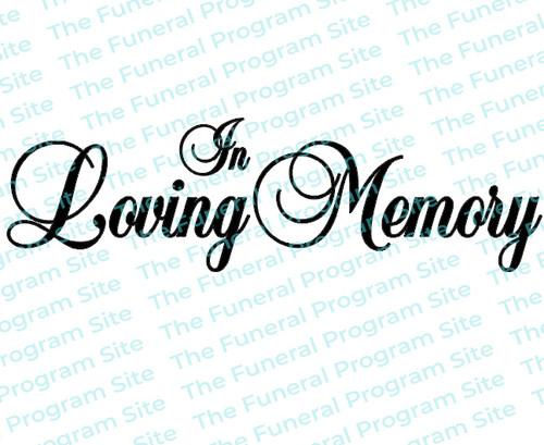 In Loving Memory Funeral Program Title