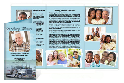 BigRig Tri Fold Funeral Brochure Template (Legal Size)