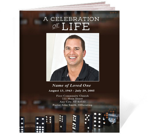 Dominoes Funeral Booklet Template (Legal Size)