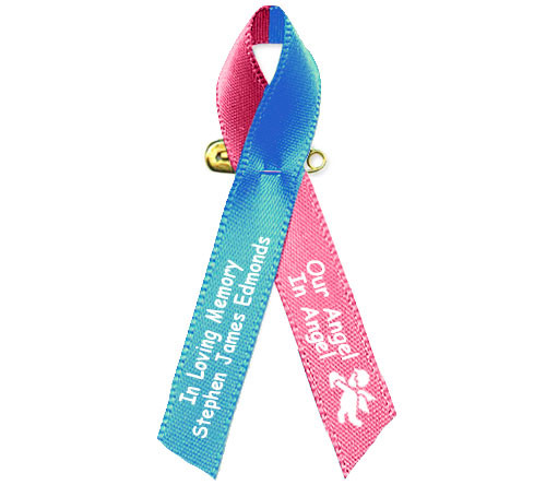 Blue Pink Awareness Ribbon Child Loss Baby