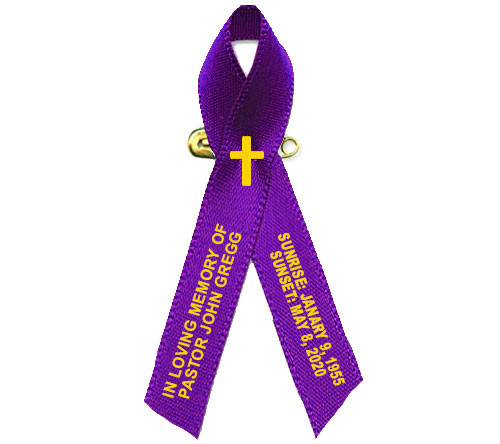 Pastor Religious Faith Based Personalized Cancer Ribbon